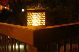Nuovo indicatore luminoso solare chiaro solare della fiamma del LED per il paesaggio decorativo di notte del prato inglese del giardino