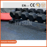 Caucho de alta calidad Gimnasio Piso alfombra de suelo disponible ampliamente al aire libre uso para el área de peso Crossfit