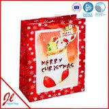 Christmmas amarelo Shopping Paper Bags para Pcaking e Shipment