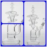 Conduite d'eau en verre de pipe de fumage avec le cercle rond comme la pipe de fumage en verre de Spiring Perc