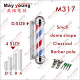 Dôme Forme Belle Design Rotating Barber Pole Lamp