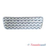 波のMicrofiberの商業ごしごし洗うモップのパッド