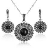 De uitstekende Zwarte Kunstmatige Juwelen van de Legering van Juwelen Vastgestelde Afrikaanse Goud Geplateerde