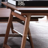 Tabla de cuadrados de madera maciza mesa lateral