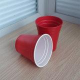 10oz 285ml PS 플라스틱 이중 색깔 빨강 솔로 맥주 Pong 컵