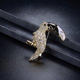 Broche cristalina de la joyería de traje de las joyas de la manera del Zircon lindo de Toucan