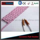 Chaufferette en céramique rose industrielle flexible personnalisée de garniture