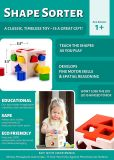 Hochwertige 10 Farben-festes Holz-geometrische Form-Puzzlespiel-Stücke