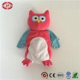 フクロウの夜鳥の刺繍されたかわいいおもちゃの赤ん坊手パペット