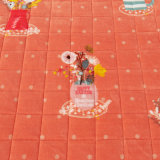 Coperchio di base imbottito rosso solido molle Checkered del copriletto di trapunta della base