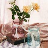 Jarrón de flores de vidrio de colores degradados para la decoración del hogar