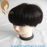 Peluca de cabello humano de Remy de la moda con la base del cordón