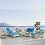 Роскошный лидеров продаж отель устойчивые к УФ излучению плетеной открытый плетеной мебелью сад диван