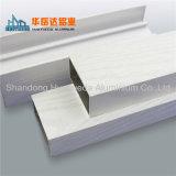Profils en aluminium argentés anodisés pour le guichet