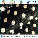 Tessuto stampato PUNTINO poco costoso del cerchio del poliestere 600d con la protezione del PVC per i sacchetti dello zaino