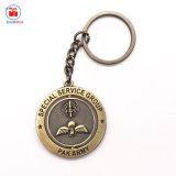 Förderndes Geschenk-Metallspezieller Service rundes Keychain