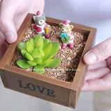 Vintage en bois rustique Pot de fleurs succulentes artificielle du semoir