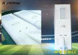 Integrierte 80W 8500-9000lm intelligente Fernsteuerungssolarstraßenlaternen