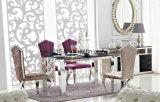 現代ガラスステンレス鋼の食堂の家具(SJ808)