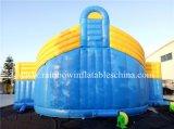 膨脹可能な遊園地の運動場を跳ぶ安く巨大なトンネルのスライド