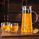 De hoge Waterkruik van de Koffie van het Glas van de Pot van de Thee van het Glas Borosilicate met FDA Certificaat