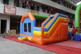 PVC商業跳躍の城の膨脹可能な警備員のコンボのスライドChb715