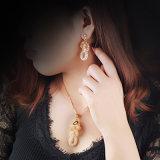 O cristal de vidro do artigo novo apedreja a jóia da colar do pendente da flor do brinco da forma