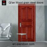 Puerta cortafuego de acero del grano de madera