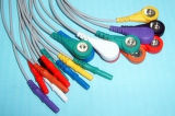 Cable del tronco ECG del plástico 14p Snap&Clip 10 del estruendo