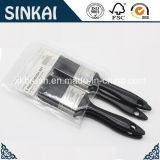 Нейлон полиэстер Кисть с черной пластиковой ручкой