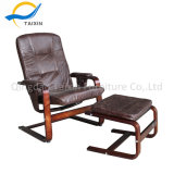 Footstoolが付いているハイエンドPUカバー余暇の椅子