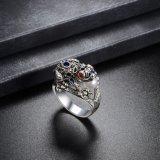 Retro Ring van de Kleur van het Kristal van het Ontwerp Zwarte voor Vrouwen