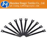 Lazo reutilizable negro del gancho y del lazo corbatas personalizadas