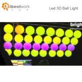 Couleur de clignotement de bille ronde changeant la bille de lumière de jardin de lumière de la nuit 3D