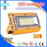 luz de inundação ao ar livre do diodo emissor de luz do poder superior da ESPIGA da luz IP65 do diodo emissor de luz 50W para o local de trabalho