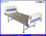 修飾された病院の家具のABSヘッドまたはフィートの平らな医学の看護の患者のベッド