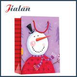 4c는 크리스마스 눈사람 디자인 선물 포장 쇼핑 종이 봉지를 인쇄했다