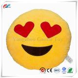 Smiley Kissenemoticon-Kissen angefülltes Plüsch-rundes gelbes weiches Kissen