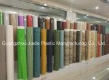 表のための木製の穀物デザインPVC装飾的なホイル