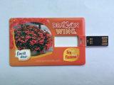 24h 서비스 풀 컬러 인쇄를 가진 최신 인기 상품 명함 USB 섬광 드라이브
