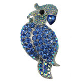 Alliage de zinc Culorful Rhinestone Parrot conception broche pour le parti