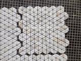 실내 & 외부 훈장을%s 백색 Carrara 대리석 모자이크 패턴