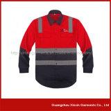 최신 판매 좋은 품질 2 음색 사려깊은 안전 작동되는 셔츠 (W02)