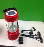 Lampe portative solaire avec le remplissage radio fm et d'USB