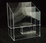 De duidelijke Plastic AcrylHandschoen maakt omhoog tot Borstel de Kosmetische Fles van het Horloge van de Opslag KleinhandelsGlas DVD het Mobiele Geval van de Gitaar van de Vertoning van het Horloge van de Telefoon