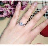오스트리아 결정 보석 반지를 Wedding 로즈 금 색깔
