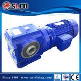 Caja de engranajes de la serie S mecanismo impulsor helicoidal de 90 del grado del eje del motor con engranajes de gusano cajas de engranajes