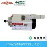 шпиндель CNC 1.5kw 400Hz 24000rpm Er11 квадратным охлаженный воздухом с ребром