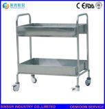 Krankenhaus-Möbel-MultifunktionsEdelstahl-medizinische Anlieferungs-Laufkatze