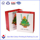 2016 China Factory Professional Custom Printed Hot Sale saco de papel de compras de Natal